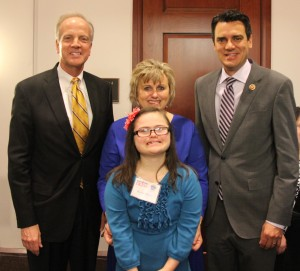 Sen. Moran, Rep. Yoder, Rachel and Jawanda at the Champions of Change Awards