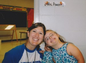Mrs. Powers was our first school SLP. We learned a lot from each other.