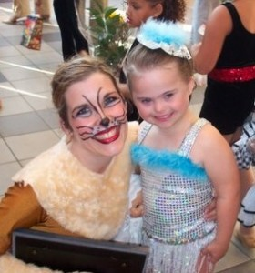 Early dance recital with one of the big girls.