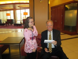 Rachel having fun with her friend, Senator Jerry Moran.