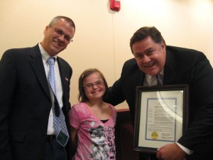 Mayor Copeland, Rachel and Jonathan, Down Syndrome Awareness Month