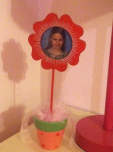 Sarah gave this to Rachel when we moved. It still sits on Rachel's night stand.