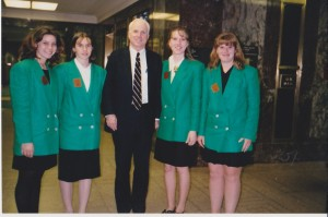 Arizona 4-H Ambassadors with Senator John McCain. 1997