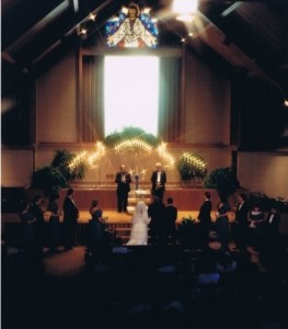 1989 Wide view of the altar and part of our guests.