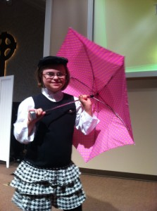 Rachel in a CYT Mary Poppins Class.