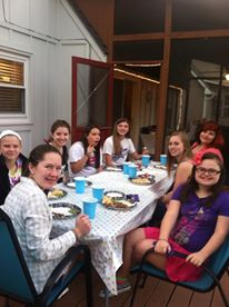 Sunday School Sleepover and Cookout.