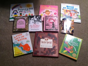 Some of Rachel's birthday books.