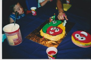 Veggie Tales Cake by Mommy Mast