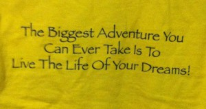 Back of Class of 2018 shirt. Remember, this is Rachel's Great Adventure!