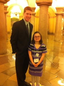 Rachel's first tip to the Hill and her personal Capitol tour.