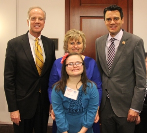 Rachel's 2nd trip to the Hill she had the honor of presenting awards to her friends, Senator Jerry Moran and Congressman Kevin Yoder.