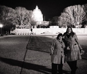 Sara Wolff & sister Jennifer headed to the 2015 State of the Union Address.