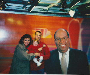 Al Roker talked to Rachel and we went to the NBC studios and got this shot back in 2000.