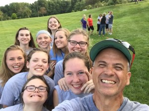 Blue Valley Friends are the BEST! Selfie with dad.