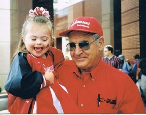 Favorite picture at a Hog game with Poppie!