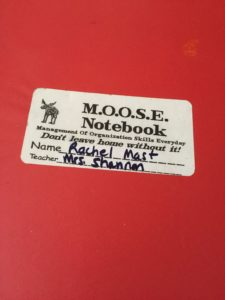MOOSE Preschool Notebook - Back and forth every day